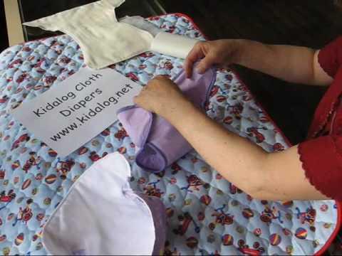how to fasten prefold diaper