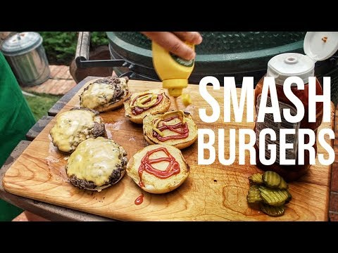How To Make SMASH BURGERS || Big Green Egg