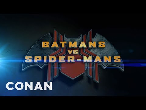 Conan Makes Fun of Batman and SpiderMan Reboot Films in a Movie Trailer