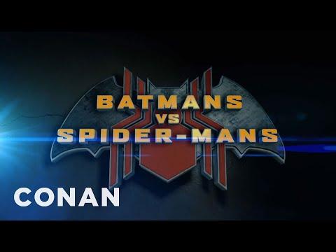 Conan Makes Fun of Batman and SpiderMan Reboot Films in a Movie Trailer