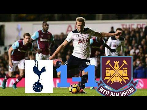 TOTENHAM vs WEST HAM 1-1 all Goal and Highlight (Hasil liga Inggris Tadi Malam)  5-4-2018.