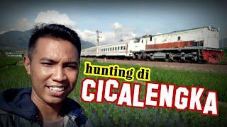 hunting video kereta api sambil ngevlog di Cicalengka