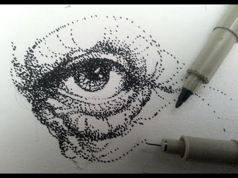 How To Draw & Shade With Stippling, Stipples, Or Dots