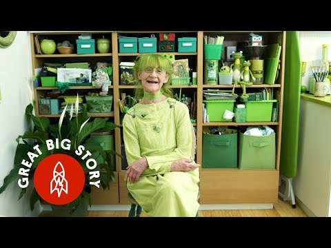 The Famous Green Lady of Brooklyn Shares the Reason Why She Loves the Color So