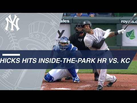 Hicks hits his 2nd inside-the-park homer of 2018 (видео)