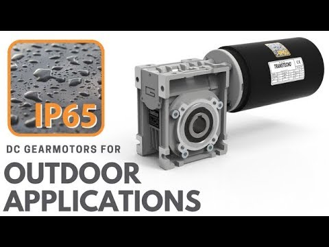 IP65 DC Gearmotors for Outdoors Applications - IP65 DC electric motors and Gear Units