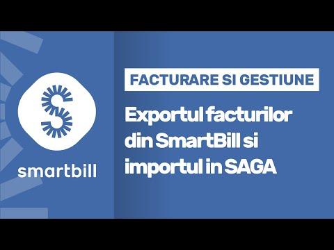 SmartBill - Exportul facturilor din SmartBill si importul in SAGA