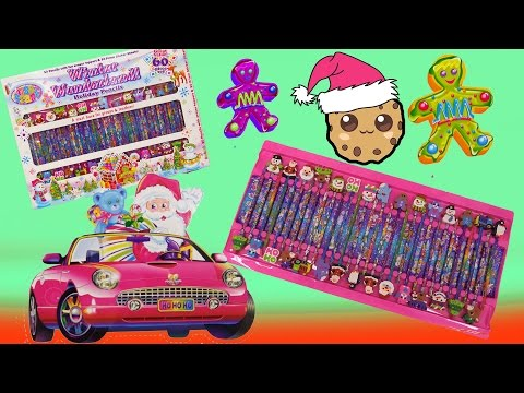 Lisa Frank Rainbow Winter Wonderland Christmas Set + Num Noms Blind Bag - Cookieswirlc Video