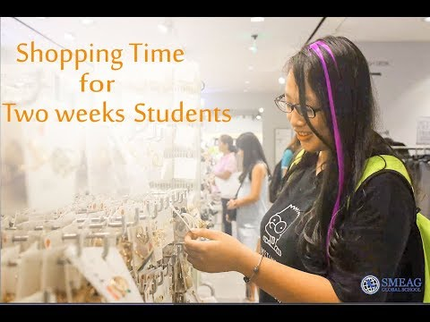 [Learning English] English Academy in Cebu, Philippines: Shopping time for 2 weeks students