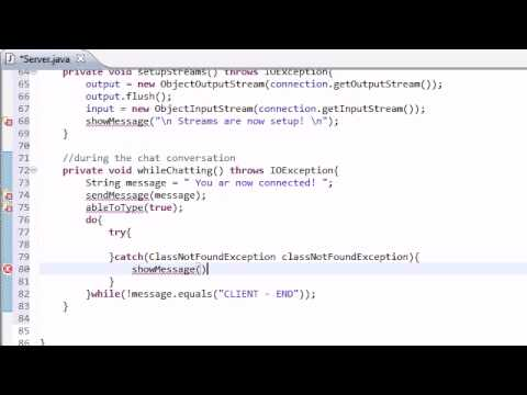 Intermediate Java Tutorial - 43 - WhileChatting