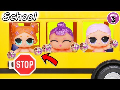Play doh - L.O.L. Surprise! Dolls Series 3 Baby Babysit School House Lil Sisters Custom Vending Pets Unboxed!