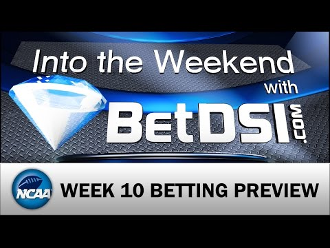 Into The Weekend with BetDSI College Football Week 10 – Sharps Pounded A Few Sides