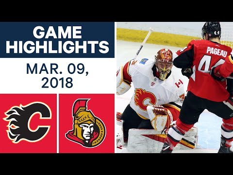 Video: NHL Game Highlights | Flames vs. Senators - Mar. 09, 2018