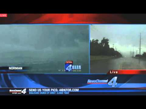 Reporter Gets Too Close To Tornado