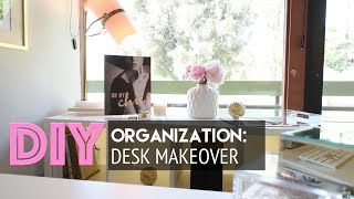 HomeGoods Desk Makeover | DIY Organization + Accessorizing