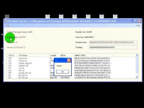 PUP file viewer ( PS3UPDAT.PUP )