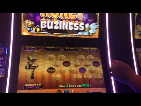 $6 HONEY BUZINESS SLOT MACHINE BONUS WIN MAX BET