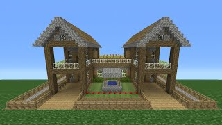 Minecraft Tutorial: How To Make A Small Survival House - 5 (Including Exterior)