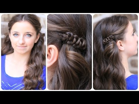 How to Create a Sides-Up Slide-Up Hairstyle %7C Easy Pullback Hairstyles