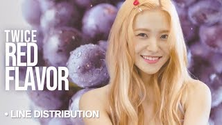 Red Velvet (레드벨벳) - Red Flavor : Line Distribution (Color Coded)