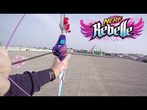 Arco  giocattolo NERF REBELLE Agent Bow con frecce oltre 27 metri!