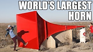 Video World's Largest Horn Shatters Glass MP3, 3GP, MP4, WEBM, AVI, FLV Februari 2019