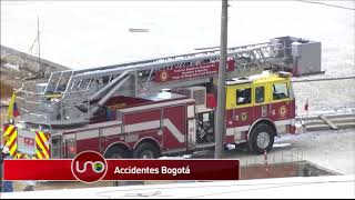 El cuerpo de bomberos de Bogotá responde a dos emergencias: En la primera, atendió la explosión en un edificio residencial en el que 26 personas tuvieron lesiones menores; y la segunda, ocurrió en el edificio, que aún no ha inaugurado, la Feria Exposición. Aún no existe explicación de las causas diferente al descarte de un atentado.