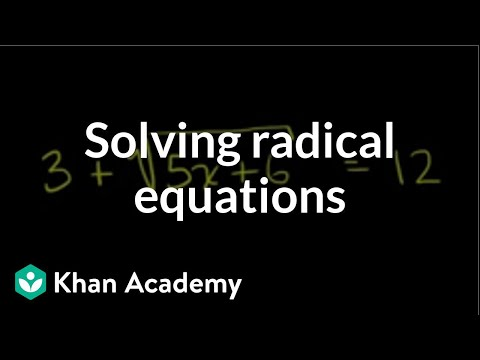 Solving Square Root Equations One Solution Video Khan Academy