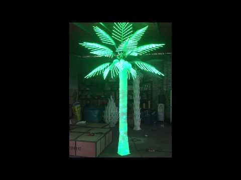Color changing LED coconut palm trees