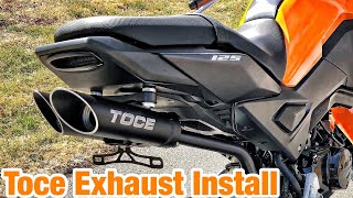 7. Toce Exhaust Install Honda Grom