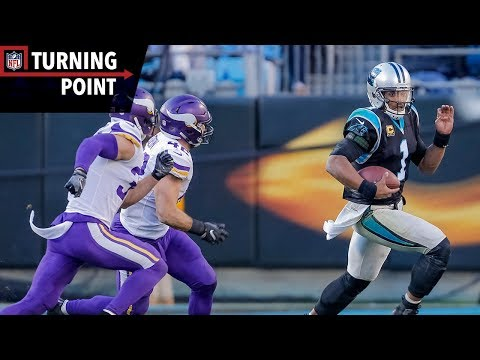 Video: Cam Newton Puts the Team on His Back During Upset of Vikings (Week 14) | NFL Turning Point