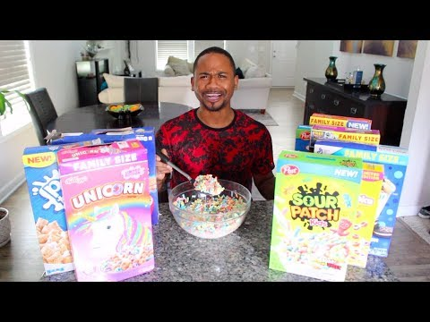 EATING All The WEIRD Cereals of 2019   TASTE TEST   Alonzo Lerone