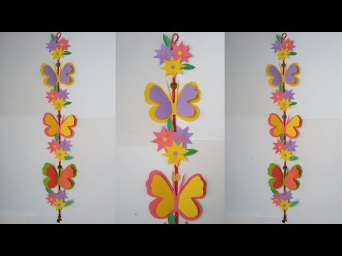 DIY/ Wall Hanging !!! How to Make Beautiful Paper Butterfly Wall Hanging !!!