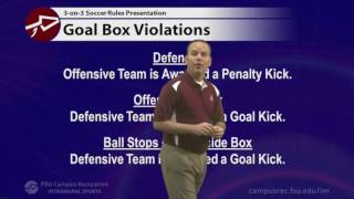 An overview of the FSU IM 3-on-3 soccer rules along with a quick look at program procedures and sportsmanship guidelines to ...
