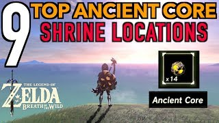 This Zelda breath of the Wild Ancient Core video will show you where to EASILY find Ancient Cores located in shrines spread throughout Hyrule. Many people say they find more Giant Ancient cores than regualr ancient cores so I hope you all find this helpful.  We will be collecting 9 Ancient Cores and also hidden diamonds in the shrines as well.  Cores can be dropped by fighting Guardians but is sometimes rare and hard to get.  If you ever wanted to know where to find guaranteed ancient cores, check out this video! This video is not an ancient core farming video or giant ancient core farming video. We are focused on guranteed core locations in various botw shrines. Some items we find in the shrines  are:Ancient CoresDiamondsBomb Arrows Enjoy!PLEASE CHECK OUT SOME OF MY OTHER COOL VIDEOS! __________________________________________________________________$2300 ELIXIR - LYNEL ELIXIRhttps://youtu.be/v4_5Q1We3n0HOW TO MAKE MONEY FAST - https://youtu.be/_71dOI6S7JYULTIMATE DRAGON FARMING -180 HORNS PR/HR OR 54,000 RUPEEShttps://youtu.be/jWObQPugpf4INFINITE STAR FRAGMENTShttps://youtu.be/cVfWZwunjCQ30 MIN. DURATION ELIXIR AND FOOD RECIPES:https://www.youtube.com/watch?v=Dqxs0IfEWnI____________________________________________________________________Gear Used to Make this Video:1) El Gato HD60 Game Capture Card - http://amzn.to/2sol0qB2) iMac 27 Inch Retina 5K - http://amzn.to/2rLf5up3) Blue Snowball - http://amzn.to/2s7glIVDISCLAIMER: This video and description has amazon affiliate links, and this means that if you click on one of the product links above which shows the gear I used to make this video with, I'll get a small commission. This helps support my channel and allows me to grow bigger and better and continue making the best game content I can! Thank you for the support in advance! Cheers!