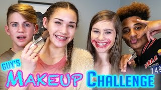 Video GUYS Makeup Challenge! MattyBRaps vs Justin ft Gracie & CeCe MP3, 3GP, MP4, WEBM, AVI, FLV Januari 2018