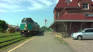 Amherst (NS) Canada  City new picture : VIA Rail In Amherst, NS, Canada