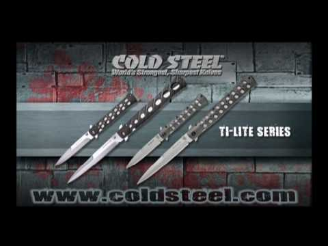 "Cold Steel Knives 6"" Ti-Lite Zytel Folding Knife - Satin Plain"