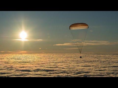 Drei Raumfahrer nach Monaten von der ISS zurück