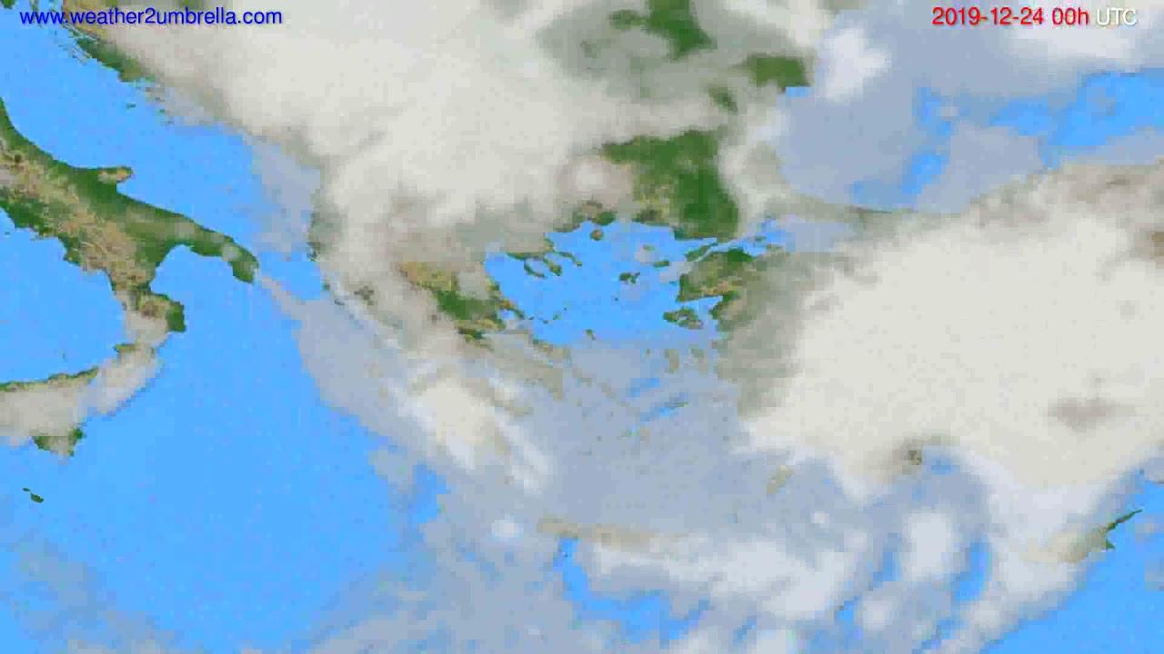 Cloud forecast Greece // modelrun: 00h UTC 2019-12-23