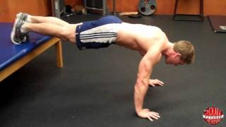 How To: Decline Push-Up With A Clap