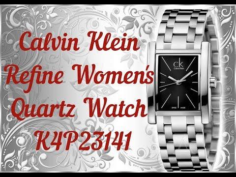 Calvin Klein Refine Women's Quartz Watch K4P23141. Unboxing