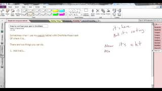 Find lost pen tool in OneNote