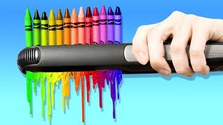 21 WONDERFUL DIYS WITH CRAYONS