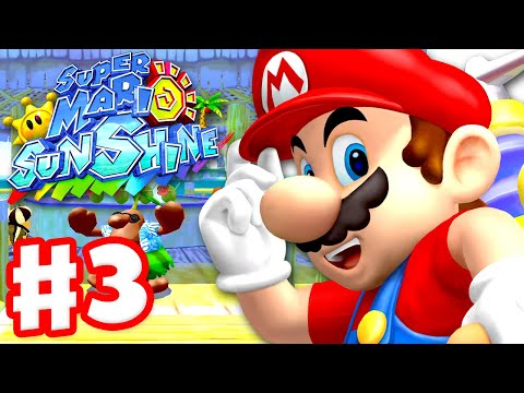 Super Mario Sunshine - Gameplay Walkthrough Part 3 - Gelato Beach 100%! (Super Mario 3D All Stars)