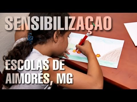 Sensibilização ambiental em Aimorés (MG).