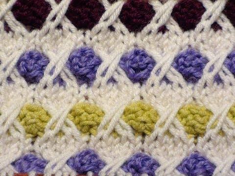 lavori a maglia - il punto nocciolina