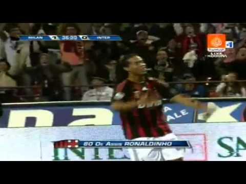 Milan 1 x 0 Inter Milan – Ronaldinho Gaucho Goal debut – Calcio Serie A