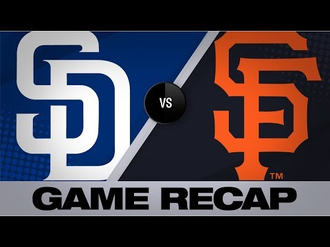 Video: Bumgarner, offense lead Giants past Padres | Padres-Giants Game Highlights 8/30/19
