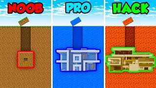 Minecraft Noob Vs Pro Vs Hacker Underground House In Minecraft Animation Minecraftvideos Tv